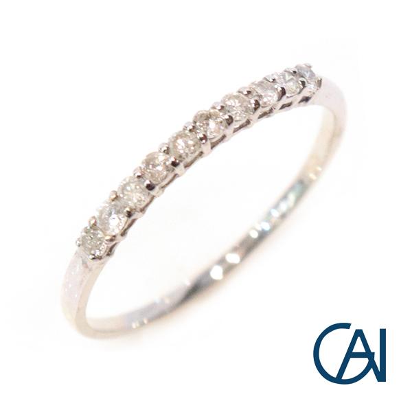 GAI ~Petit Jewelry~K10 WG D0.2ctダイヤモンド リング【展示新品】