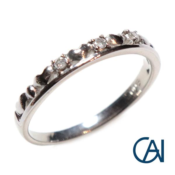 GAI ~Petit Jewelry~PT D0.03ct ハートモチーフ ダイヤリング【展示新品】