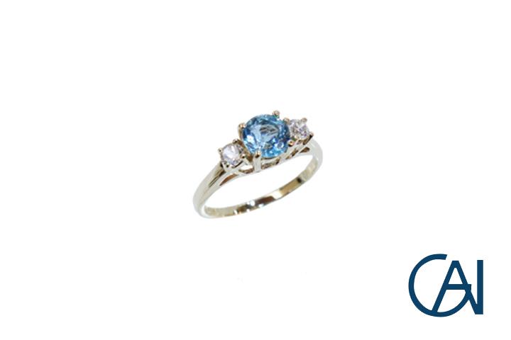 GAI ~Petit Jewelry~10K ブルートパーズリング【展示品】【あす楽】