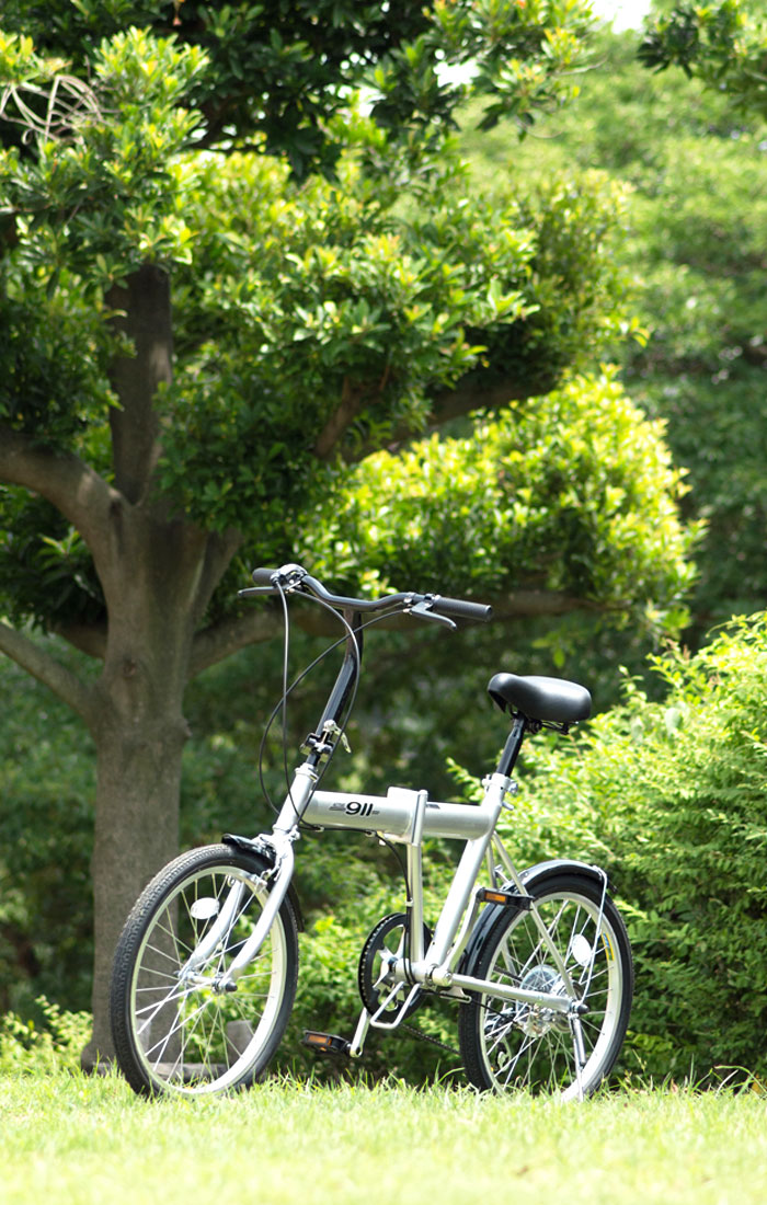 Mimugo ミムゴ ACTIVE911 FDB206S   ノーパンク 20インチ 折畳み自転車 6段ギア MG-G206N スチール アルミ合金 シルバー