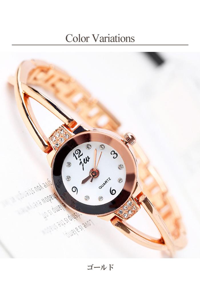 レディース ブレスレット時計   ウォッチ 腕時計 ブレスレット アクセサリー ゴールド シルバー 華奢
