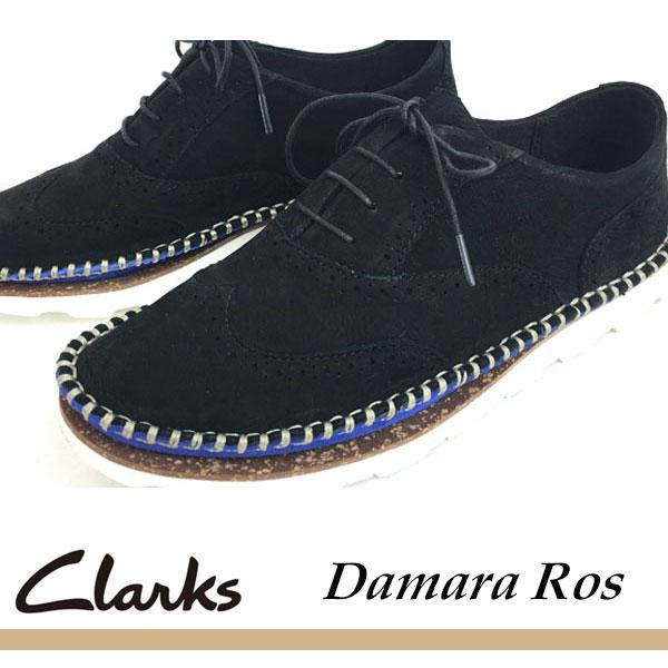 即納可☆ 【Clarks】クラークス Damara Rose ダマラローズ レディース カジュアルシューズ スニーカー(26115182-16skn)