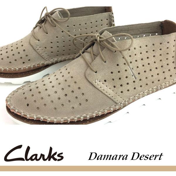 即納可☆ 【Clarks】クラークス DAMARA DESERT レディース カジュアルシューズ スニーカー(26117386-16skn)