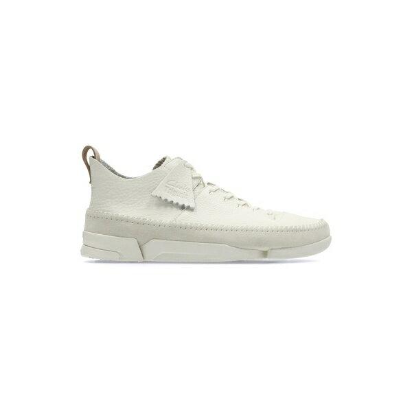 ◆◆ <クラークス> CLARKS Trigenic Flex 26117915 (White Leather) Clarks メンズ カジュアルシューズ(26117915-clk1)