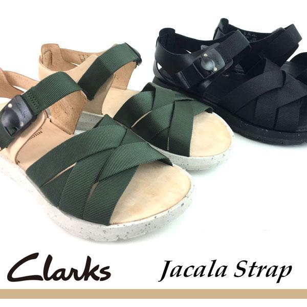 即納可☆ 【Clarks】クラークス Jacala Strap 2E メンズ カジュアルサンダル 26118243 26118245(2611824-16skn)