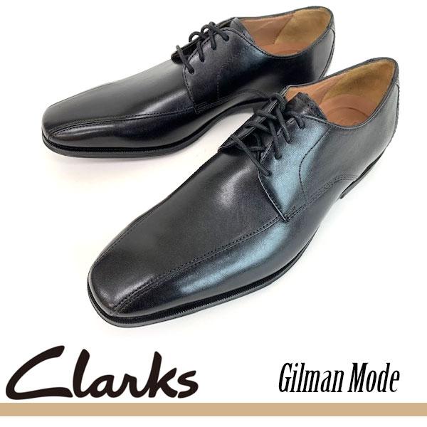 即納可☆ 【Clarks】クラークス Gilman Mode / ギルマンモード ブラックレザー 天然皮革 ビジネスシューズ レースアップシューズ 本革靴 紳士靴(26129232-16skn)