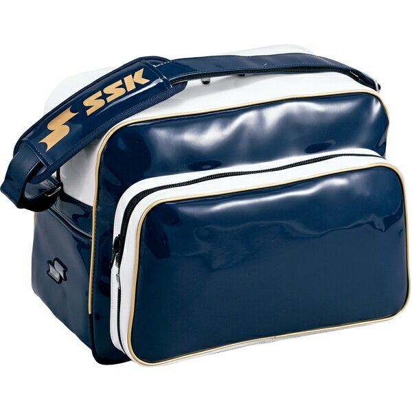 ◆◆ <エスエスケイ> SSK ショルダーバッグ BA8000 (7038:ネイビー×ゴールド) エスエスケイ(ba8000-7038-ssk1)