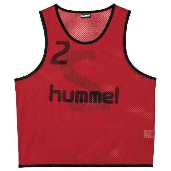 ◆◆ <ヒュンメル> HUMMEL HAK6006Z トレーニングビブス(21:チリペッパー) ヒュンメル ビブス(hak6006z-21-mkn-hum)
