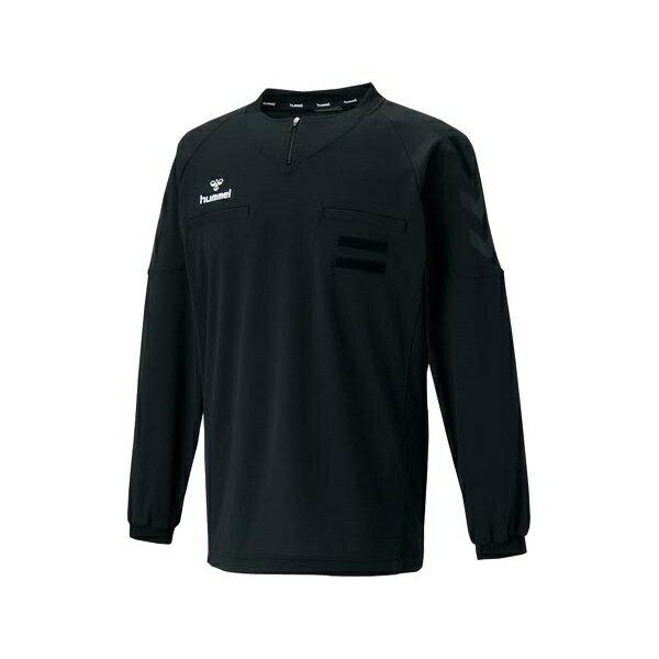 ◆◆送料無料 メール便発送 <ヒュンメル> HUMMEL HAK5004 レフリーL/Sシャツ(90:ブラック) ヒュンメル ゲームシャツ(hak5004-90-mkn-hum)