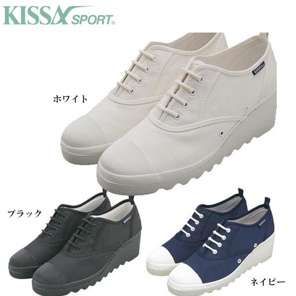 ◆◆■ <キサスポーツ> 【KISSA SPORT】 レディース ヒールスニーカー カジュアルシューズ 靴(ks8410-kis1)