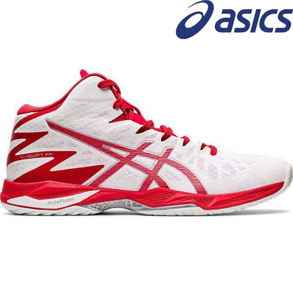 ◆◆● <アシックス> ASICS V-SWIFT FF MT 2 1053A018 (101)WHITE/CLASSIC RED バレーボールシューズ ユニセックス 1053A018-101