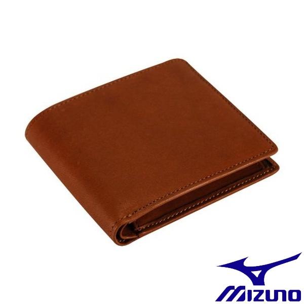 ◆◆ <ミズノ> MIZUNO グラブ革二つ折り財布 1GJYG00900 (31:チェスナッツ)
