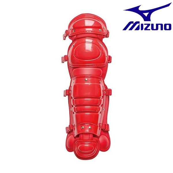 ◆◆ <ミズノ> MIZUNO 少年硬式用レガーズ(野球) 1DJLL100 (62:レッド)