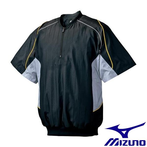 ◆◆ <ミズノ> MIZUNO ハーフZIPジャケット/半袖(2013世界モデル) 52WW388 (09:ブラック×グレー)