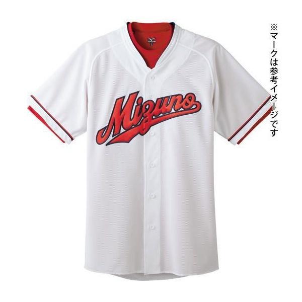 ◆◆ <ミズノ> MIZUNO シャツ(広島東洋カープ型/オープンタイプ)(ホーム)(野球) 52MW077 (01:ホワイト(ホームモデル))