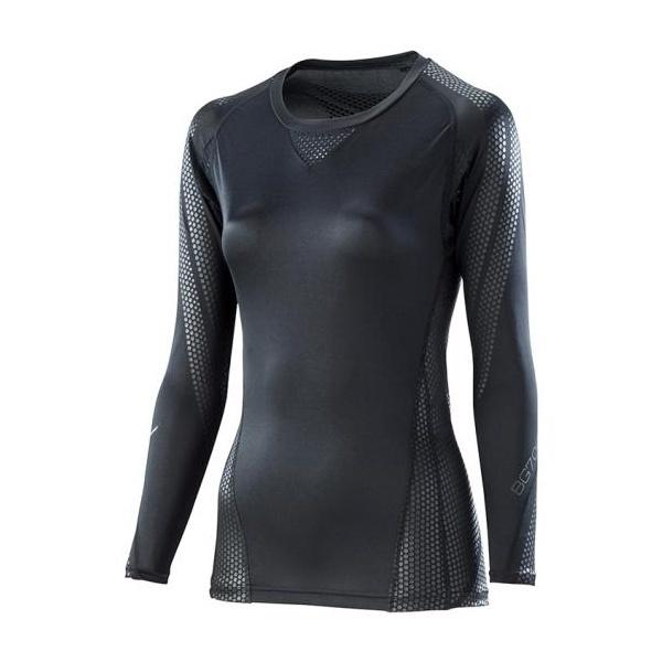 ◆◆ <ミズノ> MIZUNO 【BG7000T】バイオギアシャツ(長袖)[レディース] K2MJ8C61 (90:ブラック×ブラック)