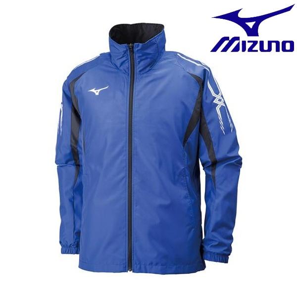 ◆◆ <ミズノ> MIZUNO ウィンドブレーカーシャツ[ユニセックス] 32JE8015 (25:サーフブルー×ブラック)