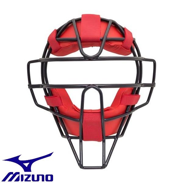 ◆◆ <ミズノ> MIZUNO 【ミズノプロ】ソフトボール用マスク 1DJQS100 (46:ネイビー×レッド)