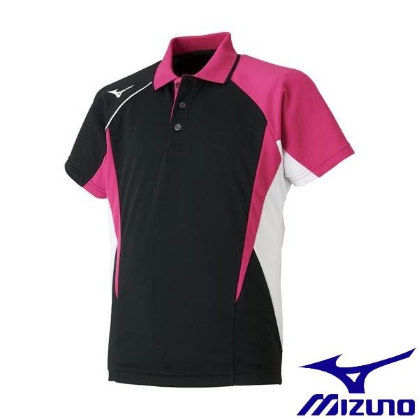 ◆◆送料無料 メール便発送 <ミズノ> MIZUNO ゲームシャツ(ラケットスポーツ)[ジュニア] 62JA8004 (09:ブラック)