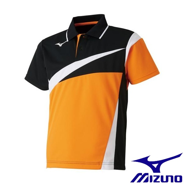 ◆◆送料無料 メール便発送 <ミズノ> MIZUNO ゲームシャツ(ラケットスポーツ)[ジュニア] 62JA8005 (54:ポップオレンジ)