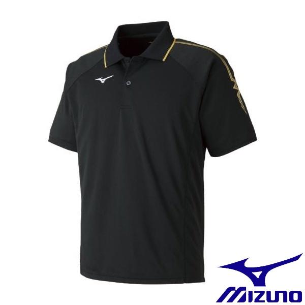 ◆◆送料無料 メール便発送 <ミズノ> MIZUNO ゲームシャツ(ラケットスポーツ)[ジュニア] 62JA8015_j (95:ブラック×ゴールド)