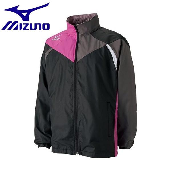 ◆◆ <ミズノ> MIZUNO アクティブウォーマーシャツ(ジュニア) 62JE4522_j (97:ブラック×ベリーピンク)