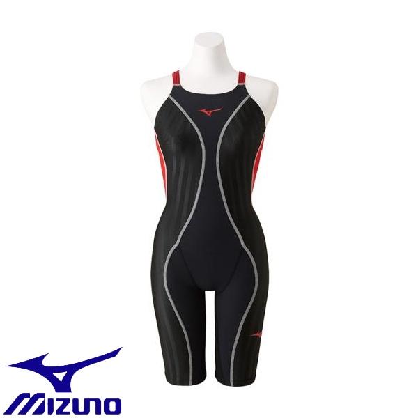 ◆◆ <ミズノ> MIZUNO 競泳用FX・SONIC+ ハーフスーツ[レディース] N2MG9230 (96:ブラック×ブライトレッド)