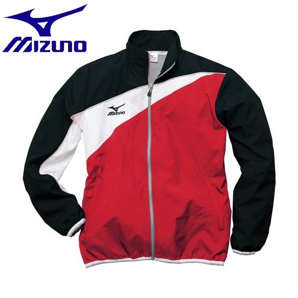 ◆◆ <ミズノ> MIZUNO トレーニングクロスシャツ[ユニセックス] N2JC7020 (69:レッド×ブラック)