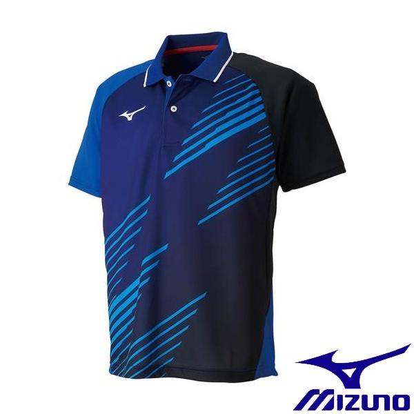 ◆◆送料無料 メール便発送 <ミズノ> MIZUNO ゲームシャツ(卓球)[ユニセックス] 82JA9007 (25:リフレックスブルー)