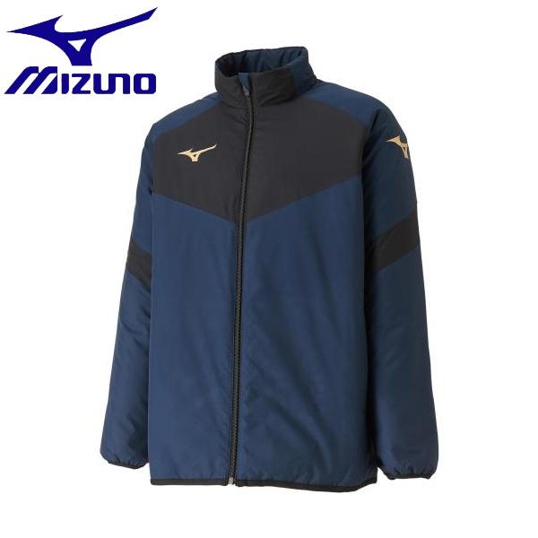 ◆◆ <ミズノ> MIZUNO ウォーマーシャツ[ジュニア] P2JE9601 (14:ドレスネイビー) サッカー・フットサル
