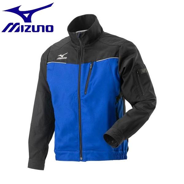 ◆◆【返品・交換不可】 <ミズノ> MIZUNO ムーブジャケット[メンズ] F2JE9184 (97:ブラック×ブルー) ワーキング用品
