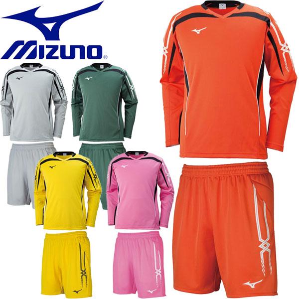 ◆◆ <ミズノ> 【MIZUNO】 ユニセックス キーパーシャツ&パンツ サッカー ゲームウェア ゴールキーパー用品 上下セット セットアップ P2MA8070-P2MB8070