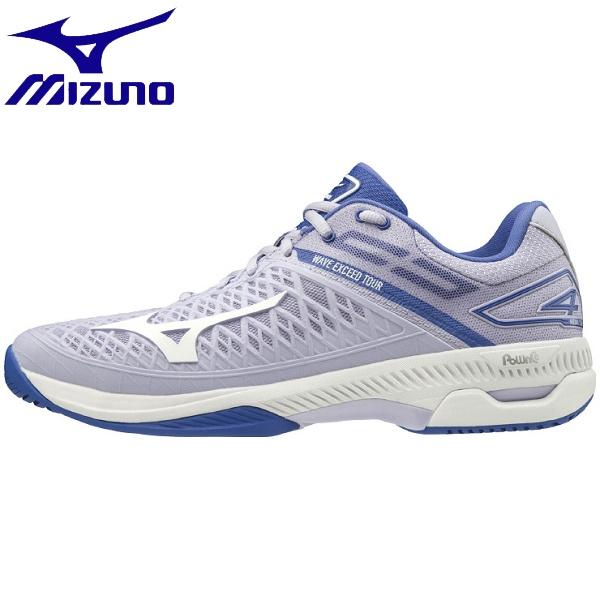 ◆◆ <ミズノ> MIZUNO ウエーブエクシード TOUR 4 AC(ウィメンズ) 61GA2070 (67:ライトパープル×ホワイト×ブルー) テニス