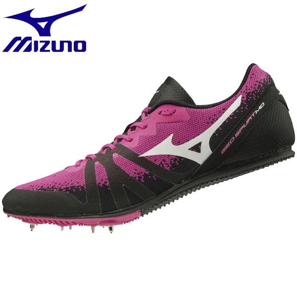 ◆◆ <ミズノ> MIZUNO ジオスパート MD(ユニセックス) U1GA2013 (60:ピンク×ホワイト×ブラック) 陸上競技