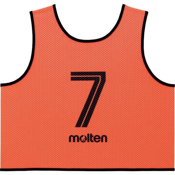 ◆◆ <モルテン> MOLTEN ゲームベストGV10枚セット GS0113 (35:KO蛍光オレンジ) (サッカー・フットサル)