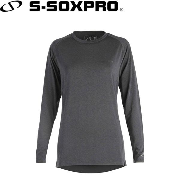 送料無料 メール便発送 エスソックスプロ S-SOXPRO レディース [再販ご予約限定送料無料] SP2008 高機能インナーシャツ drirelease ついに入荷 ロングスリーブシャツ スノーボード