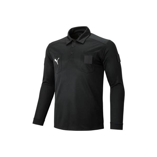 ◆◆ <プーマ> PUMA LS レフリーシャツ 656329 (01:ブラック)