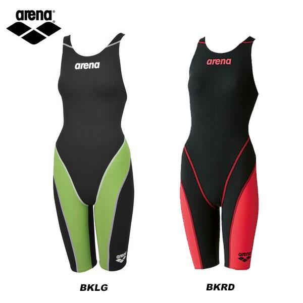 即納可★ 【ARENA】アリーナ ハーフスパッツ オープンバック FINA公認 レディース 水泳 ARN7010W