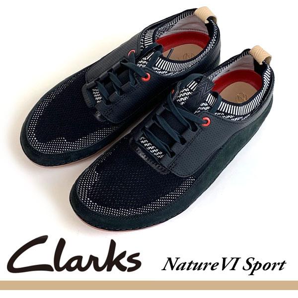 即納可☆ 【Clarks】クラークス 超特価半額 NatureVI Sport ネイチャーVIスポーツ 2E カジュアルシューズ 26131135