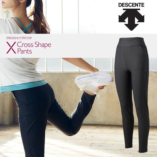 お金を節約 即納可 DESCENTE デサント 深田恭子さん着用モデル Cross 新入荷 流行 Shape Pants トレーニング 20FW DMWQJD84 フィットネス BK パンツ