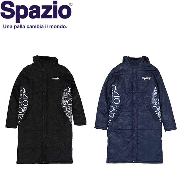 ◆◆ <スパッツィオ> 【Spazio】 19FW Spazio 迷彩エンボスベンチコート (裏ボアフリース) ユニセックス ロングコート サッカー フットサル TP-0540