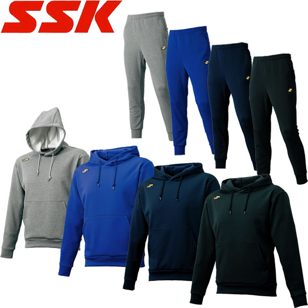 ◆◆ <エスエスケイ> 【SSK】 メンズ スウェットパーカー&パンツ スウェット上下セット トレーニングウェア 野球 DRF022-DRF022P