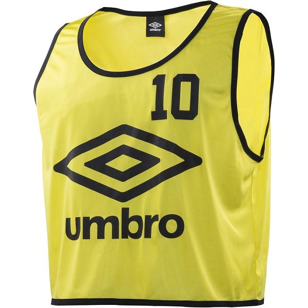 ◆◆○ <アンブロ> UMBRO ストロングビブス 10P UBS7557Z (FYEL:Fイエロ) サッカー UBS7557Z-FYEL