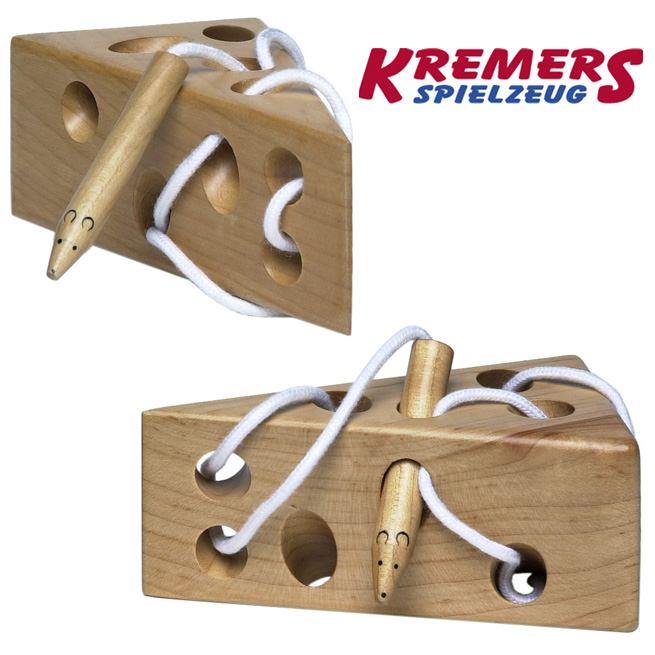 通过奶酪奶酪益智玩具木制玩具的丁字裤丁字裤 wee 鼠标 clammers KREMERS 鞋带