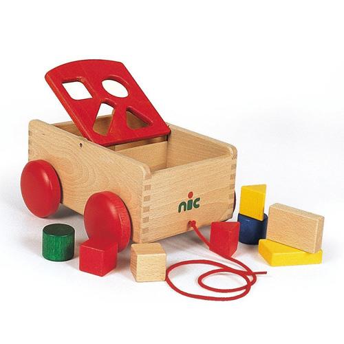 N車付ポストボックス 赤【名入れ 名前】出産祝い 知育玩具 型はめ かたはめ 積み木 つみき 積木 誕生日 プレゼント