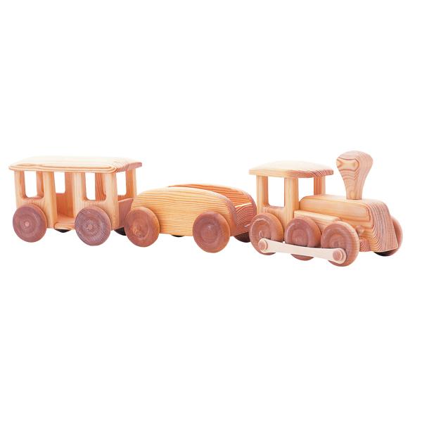 北欧の汽車 木のおもちゃ 車 木製 玩具 出産祝い おもちゃ のりもの 乗り物