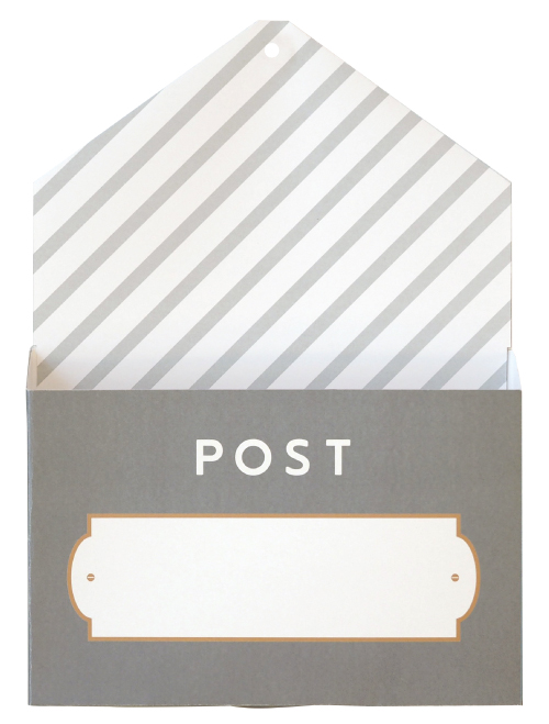 プリントやおたよりを入れるのがたのしくなる アワーホーム OURHOME おたよりポケット プリント 正規品スーパーSALE×店内全品キャンペーン ラッピング無料 グレー 学研ステイフル G12027 整理