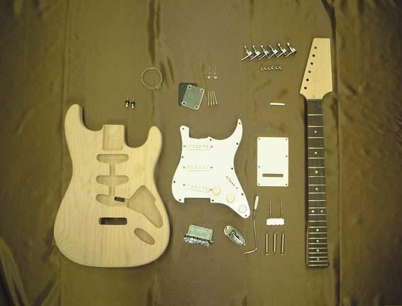 HOSCO/エレキギター組み立てキット(STタイプ) ER-KIT-ST【ホスコ】