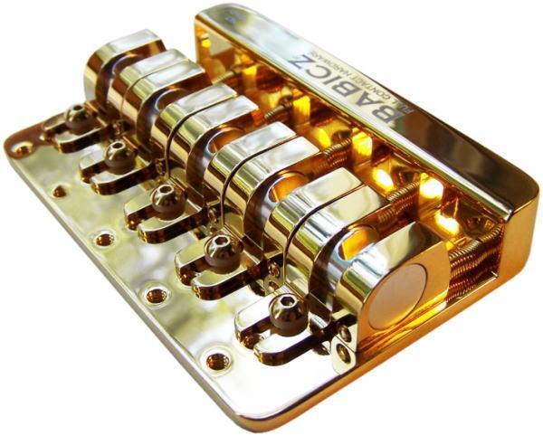 BABICZ/ベース・ブリッジ 5弦用 FCH-5B Gold【バビッツ】