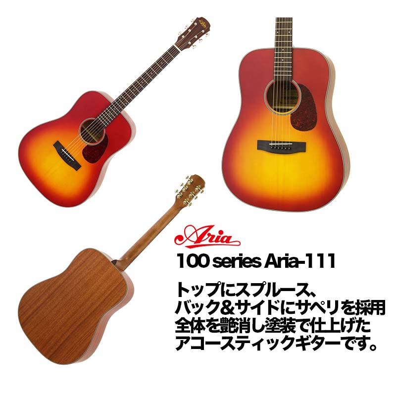 ARIA/アコースティックギター ドレッドノートタイプ 100 series Aria-111 MTCS【アリア】